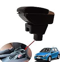 SZSS-CAR Leather Car Center Console Armrest Box for SUZUKI SX4 2008 2009 2010 2011 2012 2013 2014 2015 2016 2017 Armrests Storage Box(Black)