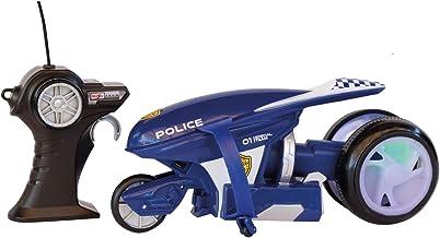 Maisto-82066P Moto de Policía con Radio Control, Color Azul (82066P)