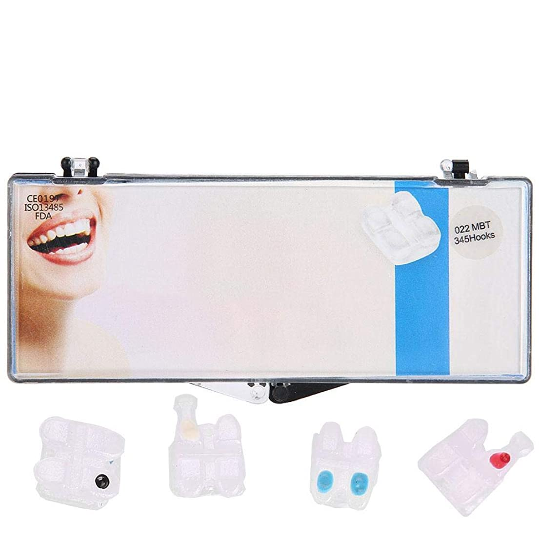 プレゼンター額天国Nitrip セラミックブラケット 歯科矯正ブラケット 歯科矯正装置 歯科矯正用 高品質 安全 022MBT 345 Hooks