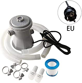 Kacniohen Eléctrica Piscina Bomba del Filtro 300 galones por Encima del Suelo para Piscina Bomba de circulación Filtro de Piscina al Aire Libre Jardín Enchufe de la UE