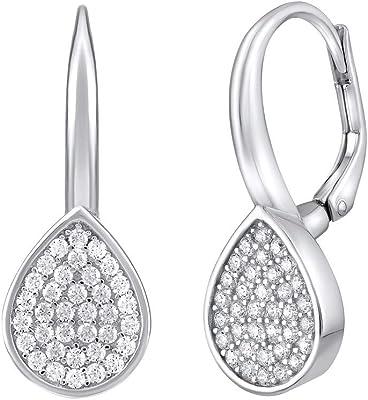 SILVEGO - MW02346 - Boucles d'Oreilles Femme - Argent 925/1000 - avec Zirconia