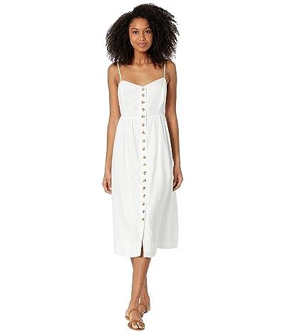 Madewell Linen-Blend Cami Button-Front Midi Dress