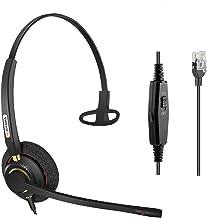 $26 » Arama Office Phone Headset RJ9 with Noise Canceling Mic for Polycom VVX311 VVX410 VVX411 VVX500 Mitel 5520e 5530e 5530 Pla...
