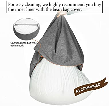 Large Bean Bag Chair Sofa Cover Lazy Lounger Storage Chair Cover Indoor Outdoor, Inner Liner Cover Bean Bag Chair Bean Bag Ch
