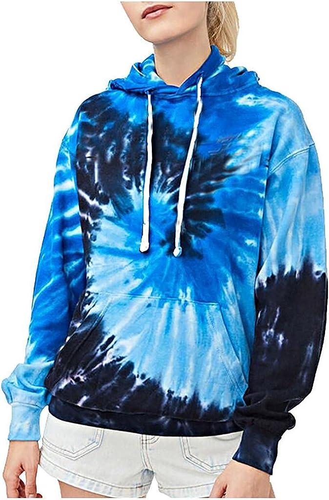 Hoodies for Women VISLINDU Womens Tie-Dye Sleeve San Jose Mall H Long Printed New item