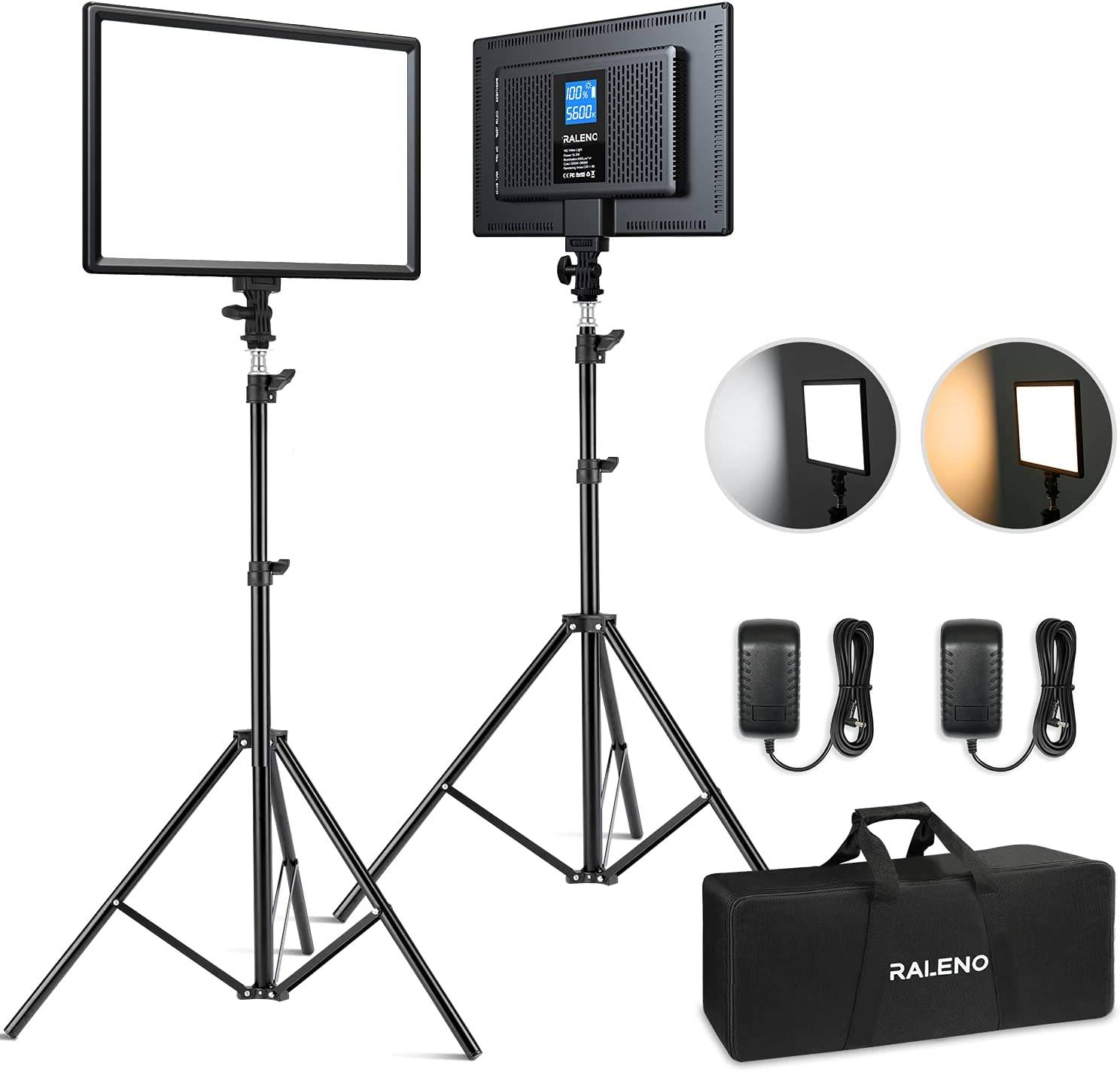 RALENO LED Video Lighting Kits With 75inch Durabl Light 1 Popular standard Stand Fixed price for sale