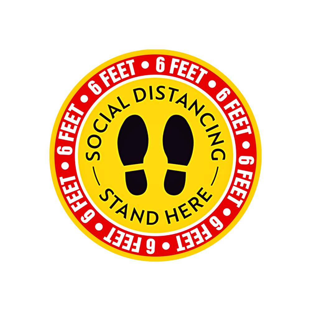 Please keep social distance 12 PackSocial Distancing Floor Decals Stickers