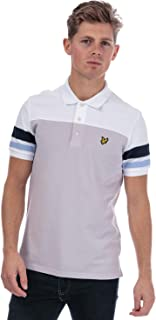 Lyle And Scott Mens Contrast Band Polo Shirt in Lilac.