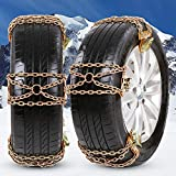 NICEASY Upgraded Newest Tire Chains,Snow Chains for RV,Truck,SUV of Tire Width 215-315 mm (8.5-12.4 inch),Heavy Duty,Thickened,Adjustable,Durable,6 Pack