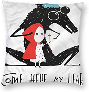 Lifestyle Decorative Square Throw Pillow Covers Come Here My Dear Quote Cushion Case for Sofa Bedroom 18 x 18 Inch