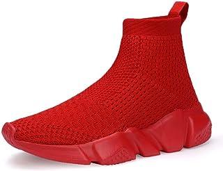 CHUI Boys Girls Breathable Sneakers Mesh Lightweight Easy Walk Casual Slip-On Athletic Running Walking Shoes (Little Kid/Big Kid)