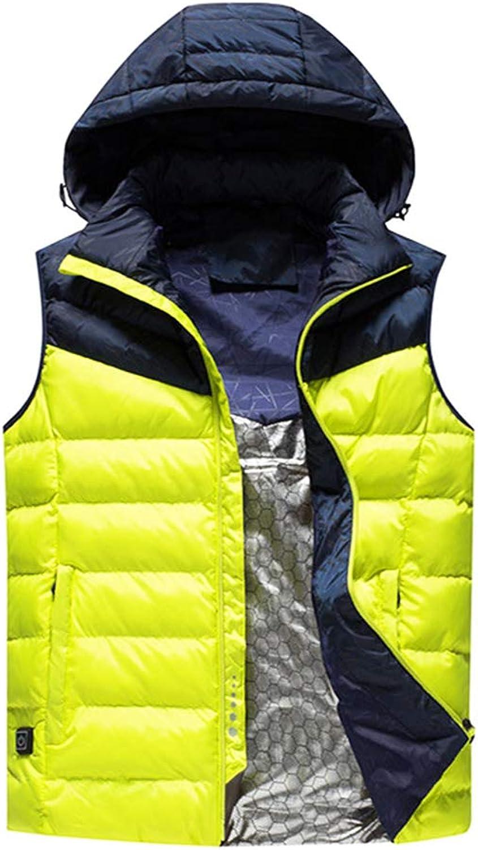 HIXGB Elektrisch Beheizte Weste,USB-Lade Winter Warme Kapuzenjacke Elektrisch Beheizt Kleidung Für Outdoor Reiten Skifahren Angeln Camping Wandern,Mnner,Frauen,Kinder