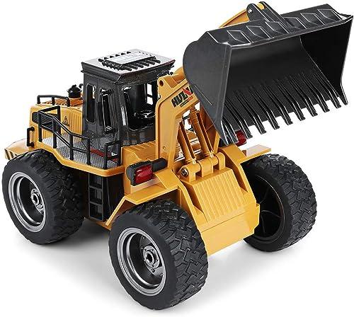 1 18 RC 6CH Lkw Metall Bulldozer RTR Bau Engineering Fernbedienung Auto Lade Spielzeug Weißnachten Geburtstagstraum Geschenk Für Kinder Und Erwachsene-35x15x15 cm (Größe   Three batteries)