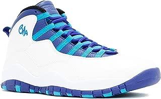 "Air Jordan 10 X ""Charlotte"" Retro White/Concord-Blue Lagoon-Black 310805-107 2016 Release"