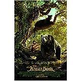 The Jungle Book (2016) 11 Inch x 17 Inch lithograph w/white border Kaa, Bagheera, Mowgli & Baloo Movie Poster kn