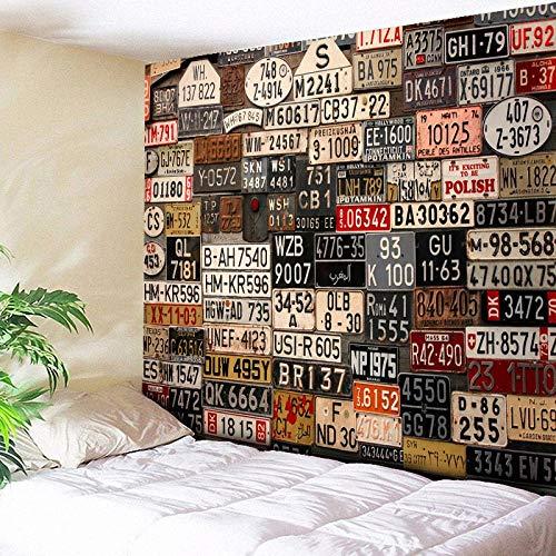 KHKJ Tapiz 3D Estilo Mosaico Hippie Estilo Bohemio Tapiz Mandala cojín de Tela decoración de Sala de Estar A1 200x180cm