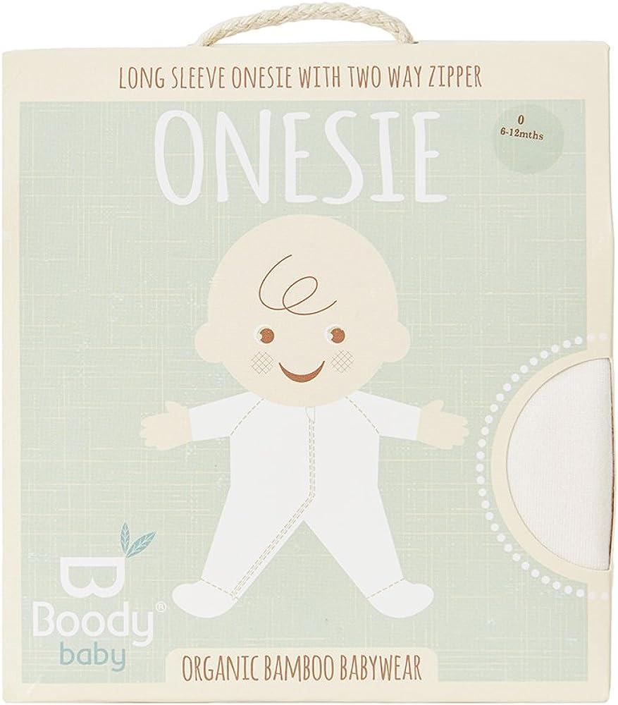 Built in Mittens Soft Blanket Sleeper Boody Body Baby EcoWear Long Sleeve Onesie Bamboo Viscose