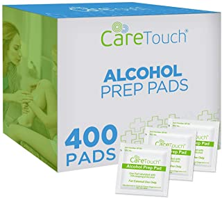 Care Touch Alcohol Prep Pads, Medium 2-Ply - 400 Wipes
