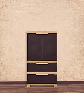Nilkamal Freedom FMDR2B Plastic Cabinet Brown , 2 Doors
