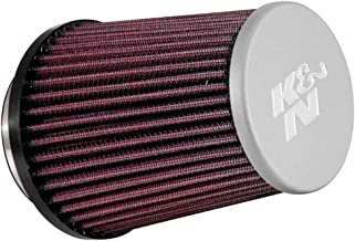 K&N RE-5287 Universal Clamp-On Air Filter: Round Tapered; 3 in (76 mm) Flange ID; 5.219 in (133 mm) Height; 4.438 in (113 mm) Base; 3.5 in (89 mm) Top