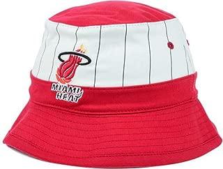 Miami Heat Pin Stripe Bucket Hat Cap Small/Medium Team Colors - Best Fits 7-7 1/2