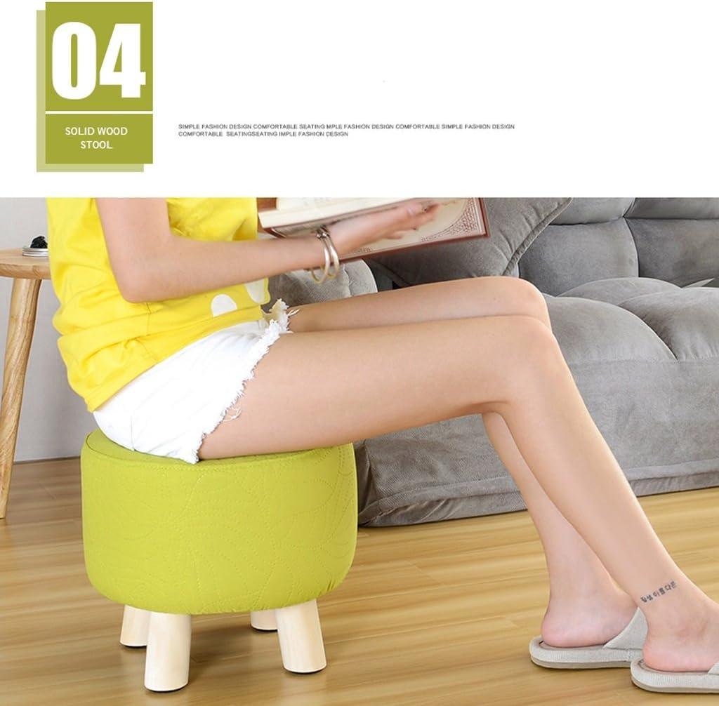 SLL- Tabouret en bois massif salon chaussures tabouret mode créatif maison banc Fauteuils et Chaises (Color : A) E