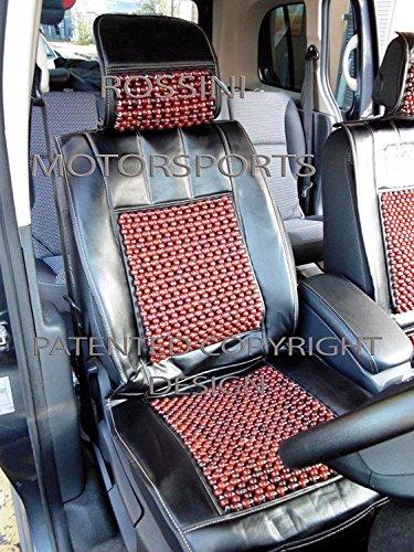 R – Adecuado para coche Dodge Caliber Caliber, fundas de asiento, cojín con cuentas de masaje, color negro