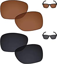 Galvanic Replacement Lenses for Oakley Catalyst Sunglasses - Amber + Black Polarized - Combo Pack