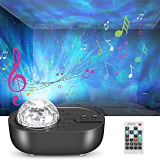 Night Light Star Projector with Music, Nullnet Sky Galaxy Projector Lamp and Ocean Wave Projector with Bluetooth Speaker a...