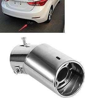 EVGATSAUTO Universal Rundes rundes Edelstahl Endauspuff Endrohr, silbernes Auspuff Schalldämpfer Endrohr Endrohr für die meisten Autos mit gebogenem Auspuffrohrdurchmesser von 38 mm bis 53 mm