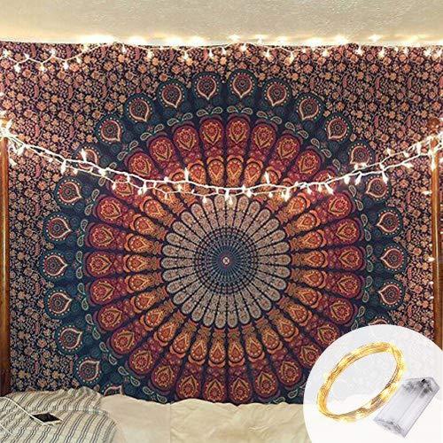 Indian-hippie-gypsy Bohemian-psychedelic Cotton-mandala...