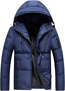 iLOOSKR Plus Size Men Winter Warm Solid Color Hooded Softshell for Windproof Soft Coat Shell Jacket