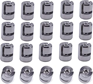 Muzata Cable Railing Kit,Cross Cable Clamps for 1/8