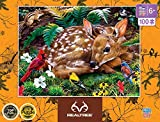 MasterPieces Realtree 100pc Puzzles Collection - Realtree Forest Babies 100 Piece Jigsaw Puzzle