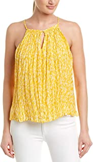 Joie Womens Hirota Silk Top, L, Yellow