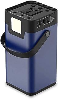 ETDWA AC Power Bank Batería de energía Solar 110V / 200W Onda sinusoidal Pura Carga AC-DC-Solar, USB, Luz LED, Coche de 12V, Energía de Emergencia, Camping 202wh