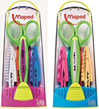 Maped Quick-Change Craft Scissors with 5 Blades, Kids, 5 Inch, Blunt Tip, Right & Left Handed (601005)