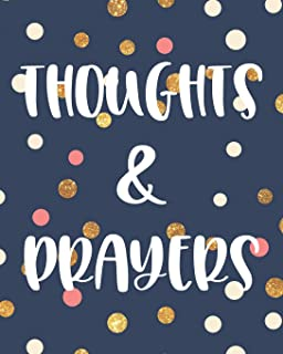 Thoughts & Prayers: 100 Page Large Prayer Journal : Trendy Polka Dot Design : Teen Girls, Women