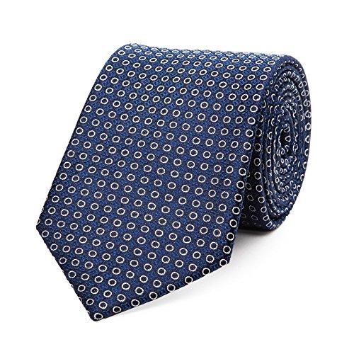 Bruce Field - Cravate en pure soie à cercles