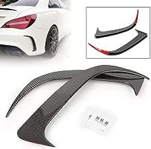 GZYF Rear Canard Air Vent Cover Trim, Carbon fiber Stick-On Apron Spoiler for Mercedes-Benz CLA200/220/CLA250