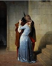 NOVELOVE Imagen De Pared Arte Francesco Hayez Kiss-il Bacio Amante Pintura Carteles Imprimir Lienzo Pintura Sin Marco 30x40cm