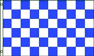 Blue & White Checkered Flag 3x5ft Poly