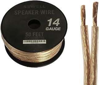 Sewell 16-Gauge Speaker Wire, 100 ft. 14 Gauge CCA 50 ft Copper