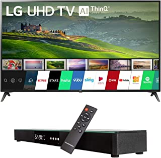 LG 70UM6970 70-inch HDR 4K UHD Smart LED TV (2019) Bundle with Deco Gear Home Theater Surround Sound 31-inch Soundbar and 6ft Optical Toslink 5.0mm OD Audio Cable