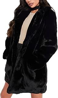 Joseph Costume Winter Faux Fur Coat for Women Long Sleeve Lapel Warm Outwear Cardigan Overcoat Jacket Outfit