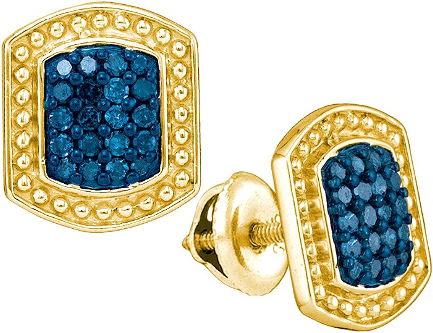 1 3 Total Carat Weight blueE DIAMOND MICROPAVE EARRING