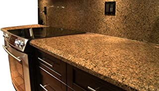 EZ FAUX DECOR Instant Countertop Update Backsplash to Gold Black Granite Marble Look Self Adhesive NO Paint Why? When You can Peel and Stick 36