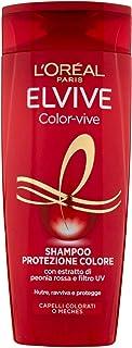 Elvive beschermende shampoo, kleur-Vive, Elixir Colour Fixer, UVA/UVB-filters, voedingsconcentraat voor gekleurd haar of m...