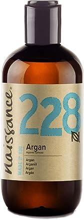 Naissance Aceite Vegetal de Argán de Marruecos n. º 228 – 250ml - Puro, natural, vegano, sin hexano y no OGM - Hidratación natural para el rostro, el cabello, la barba y las cutículas.