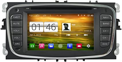 Witson 7 Android 4.4 Quad Core Black For Ford Mondeo(2007-2011)/Focus(2008-2010)/S-max(2008-2010) Galaxy (2011-2012) Car GPS Radio Stereo Navigation Head unit Capacitive 1024600 Touch Screen